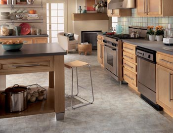 waterproof vinyl flooring in a kitchen
